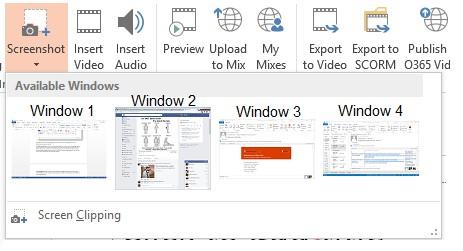 Office Mix- Screenshot tool