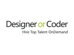 Designer oder Coder Logo